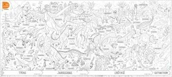 Les posters à colorier - Les dinosaures - dès 5 ans