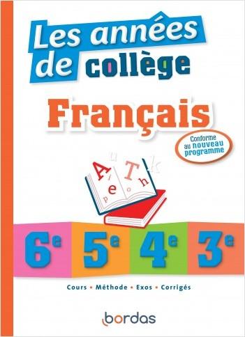 Les années de collège Français