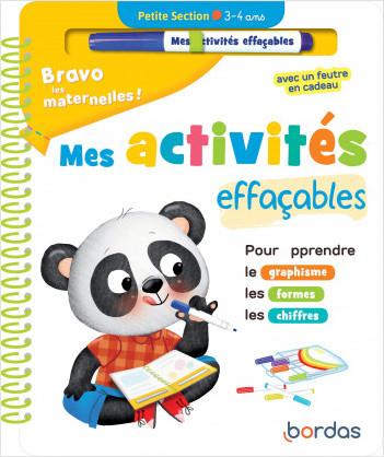 Bravo les maternelles - Mes activités effaçables - Petite section