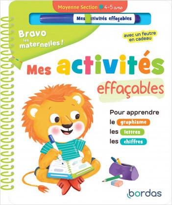 Bravo les maternelles - Mes activités effaçables - Moyenne section