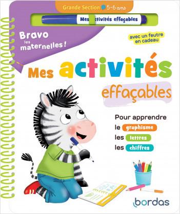 Bravo les maternelles - Mes activités effaçables - Grande section