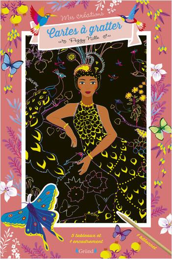Cartes à gratter : Princesses du monde – Pochette avec 5 grandes cartes à gratter dorées – À partir de 6 ans
