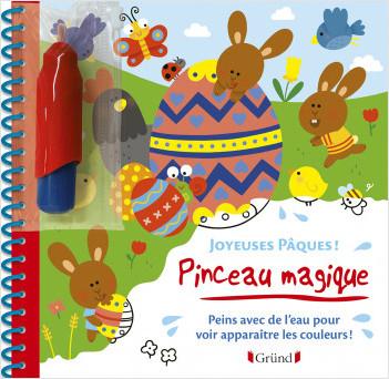 Pinceau magique : Joyeuses Pâques – Livre Coloriage magique à l'eau avec un pinceau – À partir de 3 ans