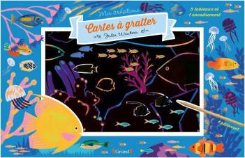 Cartes à gratter – Océans – Pochette avec 5 grandes cartes à gratter – Dès 6 ans