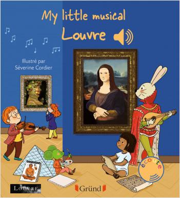 My little musical Louvre – Livre sonore en anglais avec 6 puces  – Dès 1 an