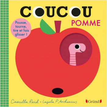 Coucou Pomme – Livre animé tout-carton avec des volets et tirettes – Bébé dès 1 an
