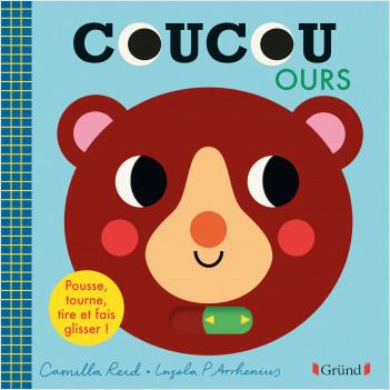 Coucou Ours – Livre animé tout-carton avec des volets et tirettes – Bébé dès 1 an