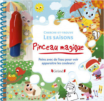 Pinceau magique : Cherche-et-trouve - Les saisons – Loisirs créatifs jeunesse – Dès 3 ans