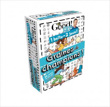 1 boîte 2 jeux – Graines de champions – Jeu de cartes avec Michel Cymes – À partir de 6 ans