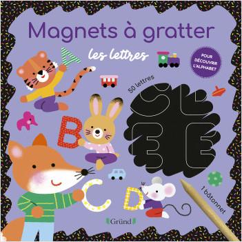 Magnets à gratter - Les lettres – Pochette avec 3 planches à gratter – Dès 3 ans