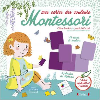 Pochette Montessori : Les couleurs – Kit avec 60 cartes, 9 planches de dégradés, 1 cahier d'activités et 1 livret pour les parents – À partir de 3 ans