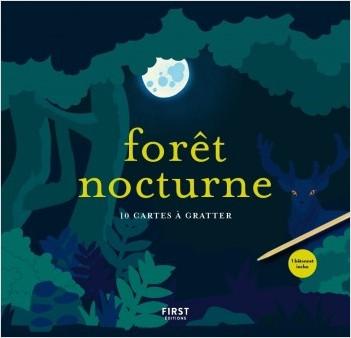 Forêt nocturne - 10 cartes à gratter