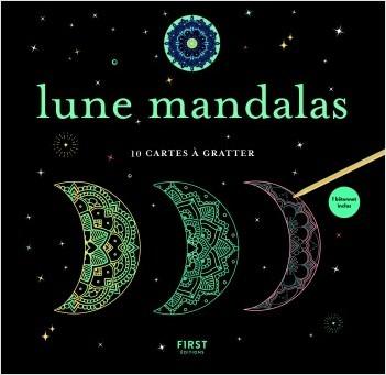 Lune mandalas - 10 cartes à gratter