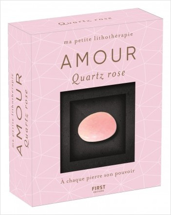 Coffret-Ma petite lithothérapie - Amour - Quartz rose : une pierre + un livre