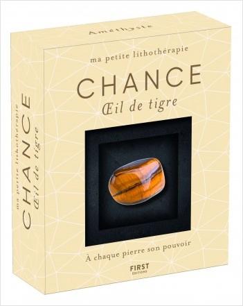 Coffret-Ma petite lithothérapie - Chance - Oeil de tigre : une pierre + un livre
