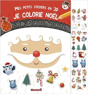 Mes petits stickers en 3D - Je colorie Noël