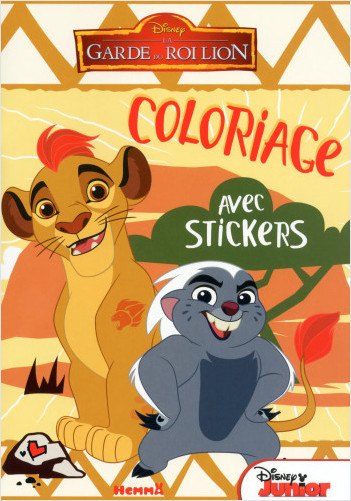 Disney - La Garde du Roi Lion - Coloriages avec stickers