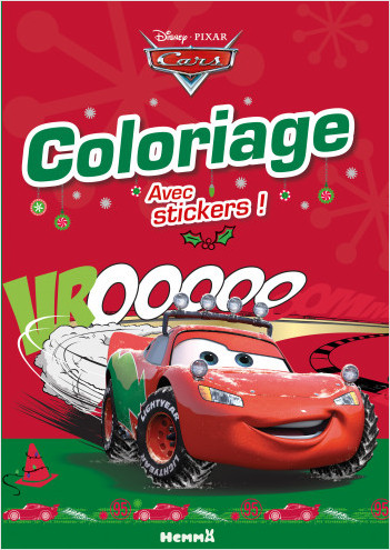 Cars - Coloriage avec stickers (Noël)