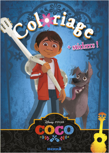 Disney Coco - Coloriage avec stickers