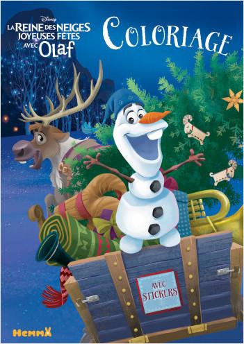 Disney La Reine des Neiges - Joyeuses Fêtes avec Olaf - Coloriage avec stickers