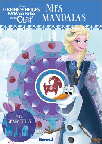 Disney La Reine des Neiges - Joyeuses Fêtes avec Olaf - Mes mandalas avec gommettes