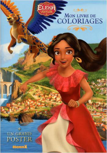 Disney - Elena d'Avalor - Mon livre de coloriages avec grand poster