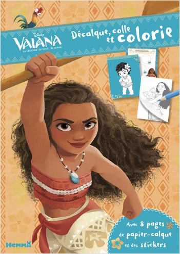 Disney Vaiana - Décalque, colle et colorie