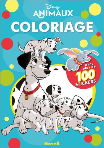 Disney Animaux - Coloriage avec plus de 100 stickers - Livre de coloriage avec stickers - Dès 4 ans