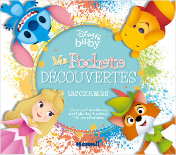 Disney Baby – Ma pochette découvertes – Les couleurs – Pochette  d'activités avec des stickers – Dès 4 ans