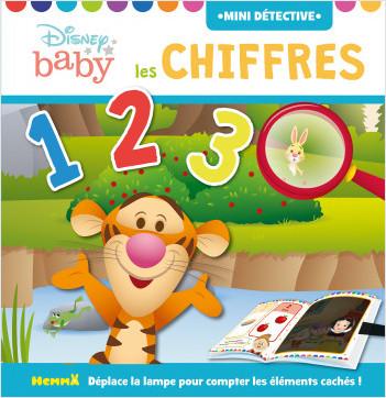 Disney Baby – Mini détective – Les chiffres – Livre d'éveil cherche et trouve avec lampe magique – Dès 2 ans