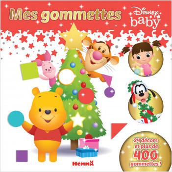 Disney Baby - Mes gommettes - Livre de gommettes Noël - Dès 3 ans