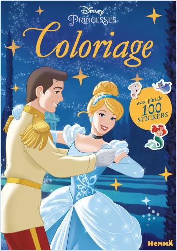 Disney Princesses - Coloriage avec plus de 100 stickers (Cendrillon)