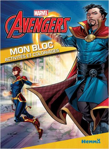 Marvel Avengers - Mon bloc - Activités et coloriages (Dr Strange et Captain Marvel)