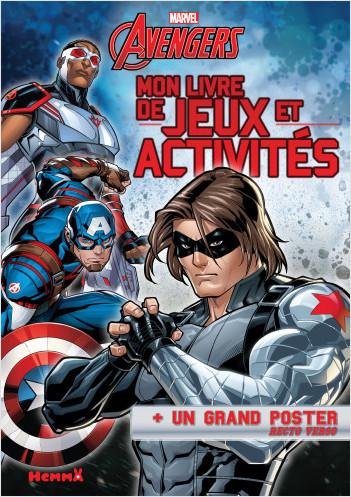 Marvel Avengers - Mon livre de jeux et activités + un grand poster (Faucon et soldat de l'Hiver)