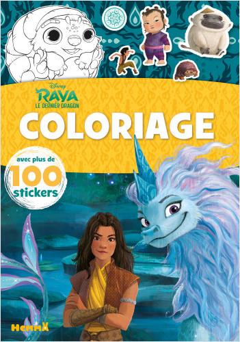 Disney Raya et le Dernier Dragon – Coloriage avec plus de 100 stickers – Livre de coloriage avec stickers – Dès 4 ans