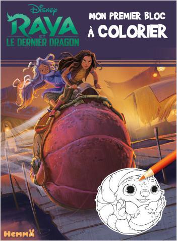 Disney Raya et le Dernier Dragon – Mon premier bloc à colorier – Livre de coloriage – Dès 3 ans
