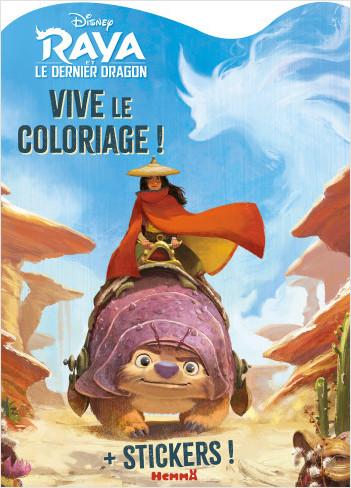 Disney Raya et le Dernier Dragon – Vive le coloriage - Livre de coloriage avec stickers – Dès 4 ans