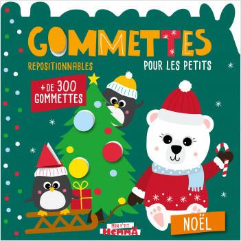 Gommettes pour les petits - Noël - Livre de gommettes Noël repositionnables - dès 3 ans