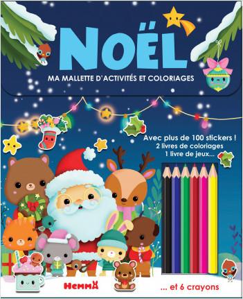 Noël - Valisette à emporter avec stickers et crayons - dès 4 ans