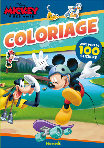 Disney Mickey et ses amis - Coloriage avec plus de 100 stickers (Mickey)