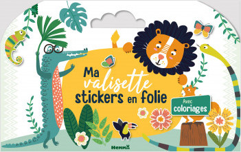 Ma valisette stickers en folie - Les animaux – Livre-valisette de stickers et de coloriages – dès 4 ans