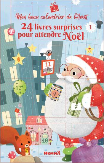 24 livres surprises pour attendre Noël - Grand calendrier de l'Avent recto verso avec 1 livret surprise par jour - dès 4 ans