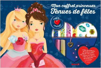 Coup de coeur créations - Mon coffret princesses - Tenues de fêtes - Coffret au contenu riche avec stickers et strass pour habiller les modèles - dès 4 ans