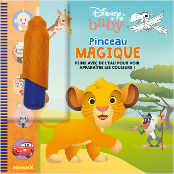 Disney Baby – Pinceau magique – Livre avec pinceau magique – dès 3 ans
