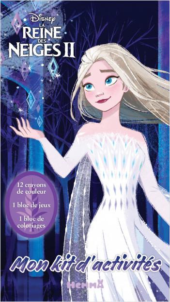 Disney la Reine des Neiges 2 – Mon kit d'activités – Kit d'activités et coloriage – Dès 5 ans
