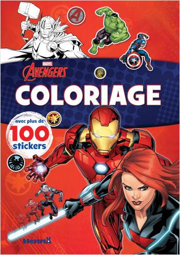 Marvel Avengers - Coloriage avec plus de 100 stickers (Black Widow et Iron Man) - Livre de coloriage avec stickers - dès 4 ans