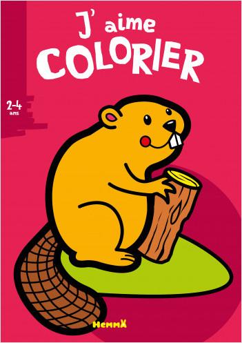 J'aime colorier - Castor – Livre de coloriage – dès 2 ans