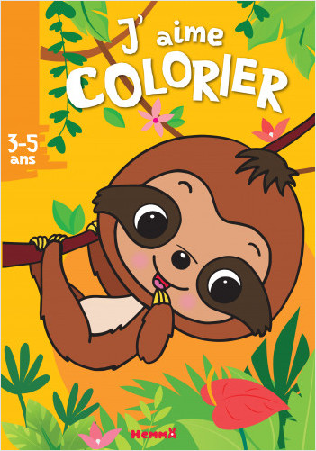 J'aime colorier - Paresseux – Livre de coloriage – dès 3 ans