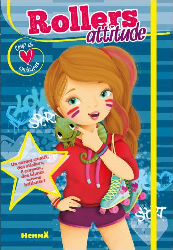 Coup de cœur créations – Rollers attitude – Diptyque avec stickers et crayons pour habiller et colorier les modèles – dès 5 ans