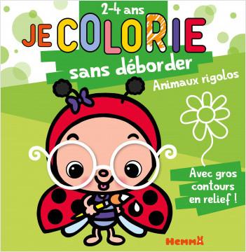 Je colorie sans déborder - Animaux rigolos – Bloc de coloriage avec contours épais, pailletés et en relief – dès 2 ans